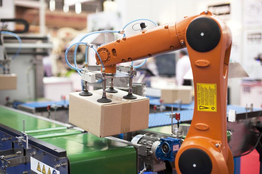 automation, robot, pakkelinje
